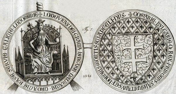 Pieczęć Ludwika Andegaweńskiego.