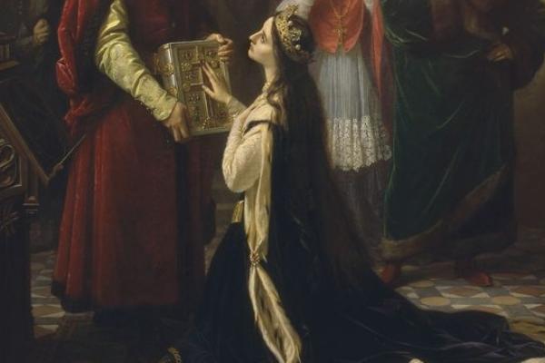 Przysięga królowej Jadwigi.