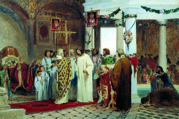 Chrzest władcy wcale nie musiał wyglądać tak, jak przedstawia się go w podręcznikach.