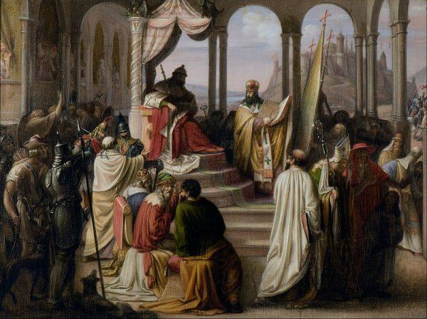 Płochij zaczyna opowieść od Rusi Kijowskiej. Na obrazie Włodzimierz Wielki, władca Rusi, który przyjął chrześcijaństwo.