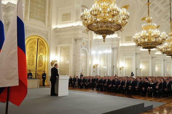 """Władimir Putin przekonywał, że Krym to ziemia """"rdzennie rosyjska""""."""