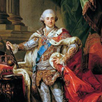 Portret Poniatowskiego w stroju koronacyjnym.