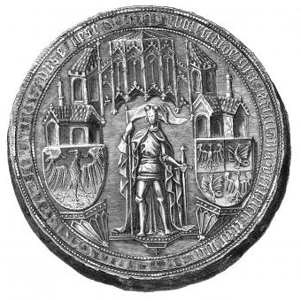 Pieczęć Bolesława V warszawskiego.