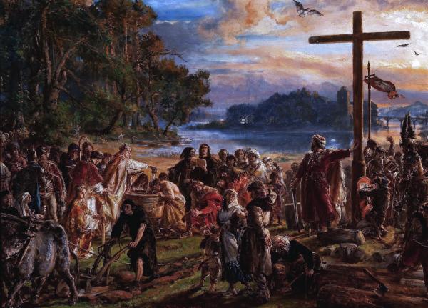 Wprowadzenie chrześcijaństwa w Polsce.