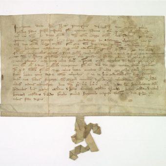 Dokument, w którym Przemysł II przyznaje Ziemomysłowi zwrot Kujaw w 1278 roku (fot. AGAD, domena publiczna)