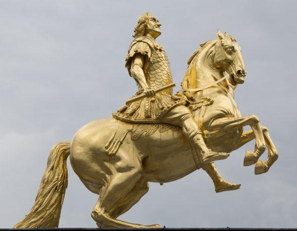 Pomnik konny Augusta II Mocnego w Dreźnie.