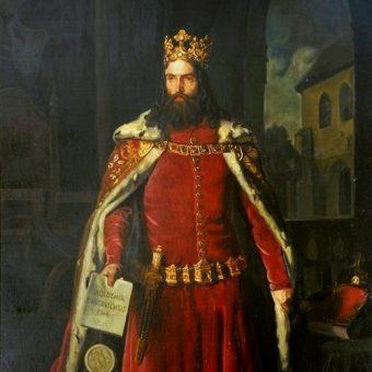 Portret Kazimierza Wielkiego.