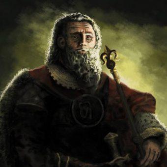 Współczesne wyobrażenie Mieszka III Starego na podstawie rysunku Matejki.