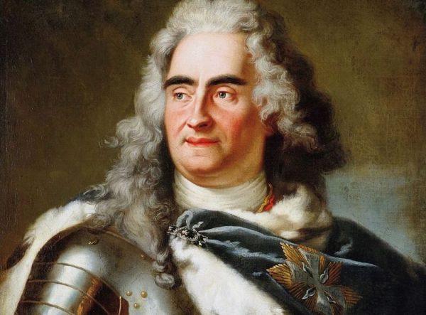 August II Mocny na obrazie Louisa de Silvestre'a.