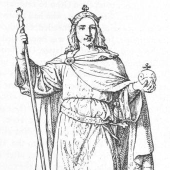 Imię Otto miał otrzymać na cześć niemieckiego cesarza Ottona III (na ilustracji). Władca miał być jego ojcem chrzestnym.