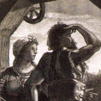 Protoplaści dynastii piastowskiej - Piast i Rzepka (fot. domena publiczna)