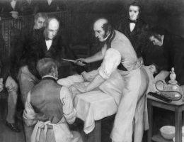 Robert Liston w trakcie operacji (fot. domena publiczna)