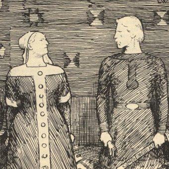Sygryda z Olafem Tryggvasonem (fot. domena publiczna)