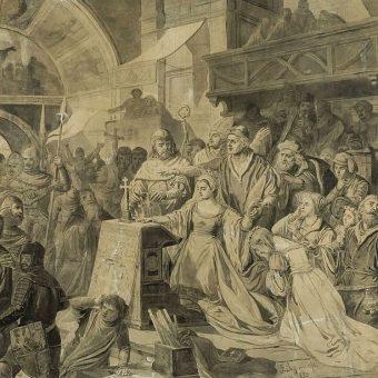 Kazimierz II pojawił się jako reprezentant ojca na ślubie Jagiełły z Zofią Holszańską (obraz przedstawia przysięgę Zofii).