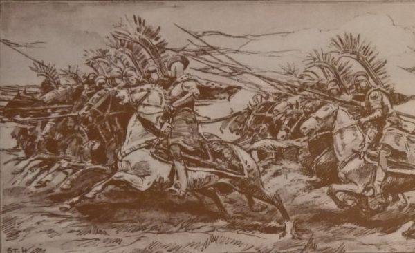 Szarżujący husarze niewiele sobie robili z strzelających do nich muszkieterów.