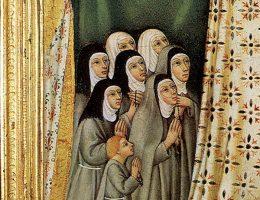 Zakonnice na obrazie z XV w. (fot. domena publiczna)