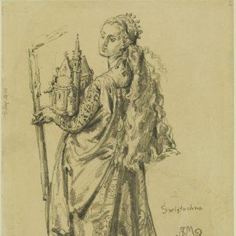 Świętosława Swatawa, obraz Jana Matejki (fot. domena publiczna)