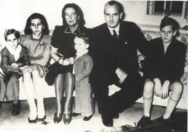 Hans Frank z rodziną.
