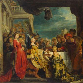 Alboin i Rosamunda, obraz ze szkoły Rubensa (fot. domena publiczna)