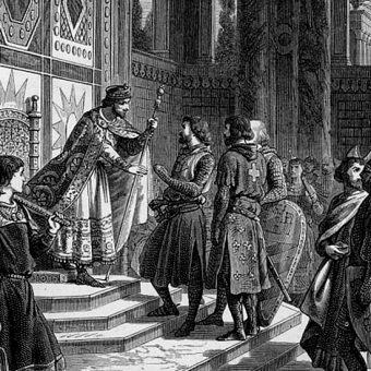 Aleksy I Komnen przyjmuje krzyżowców (fot. domena publiczna)