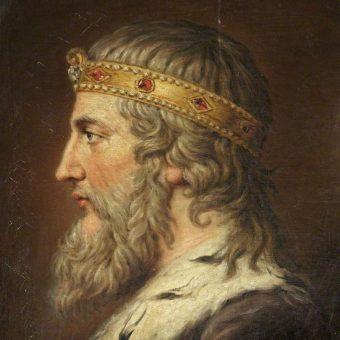 Portret Alfreda Wielkiego.