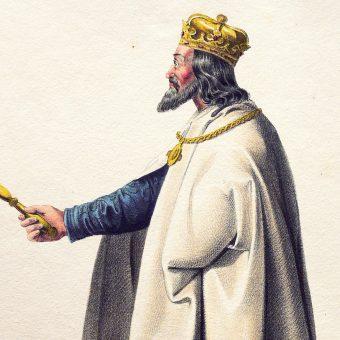 Litografia przedstawiająca Andrzeja II.