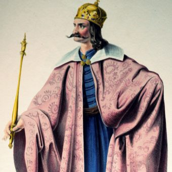 Litografia przedstawiająca Bélę III.