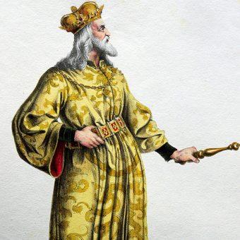 Litografia przedstawiająca Bélę IV.