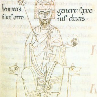 Wizerunek Henryka z anonimowej kroniki.