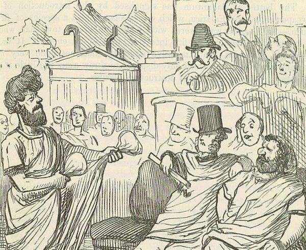Rzymska odmiana demokracji nie była doskonała. Na ilustracji Fabiusz przed senatem.