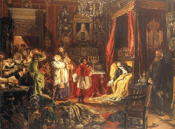 Śmierć Zygmunta II Augusta.