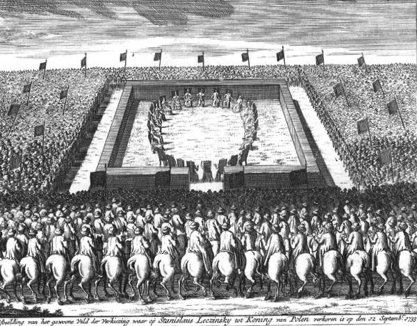 Elekcja Stanisława Leszczyńskiego w 1733 roku.