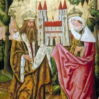 Henryk II z żoną.