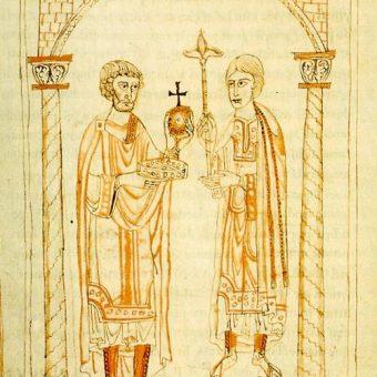 Przekazanie władzy Henrykowi V przez ojca.