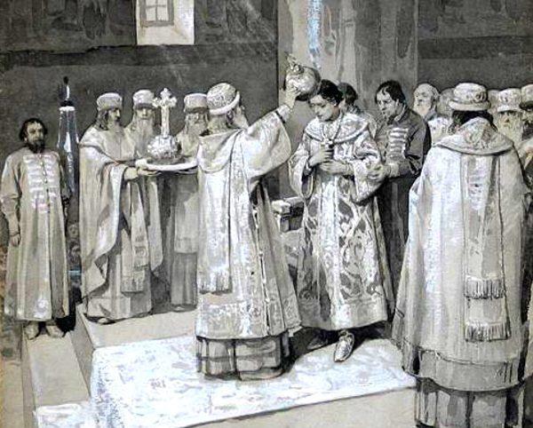 Koronacja Iwana IV odbyła się na Kremlu.