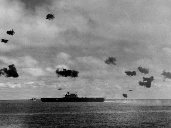 W bitwie brał udział między innymi USS Yorktown.