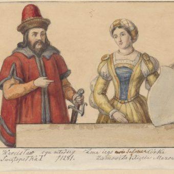 Książę pomorski Warcisław II gdański z żoną Salomeą (fot. Muzeum Narodowe w Warszawie , domena publiczna)