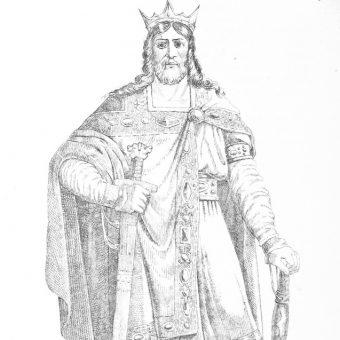 Wizerunek Edwarda Zwycięskiego.