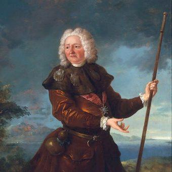 Portret króla Stanisława Leszczyńskiego w stroju pielgrzyma.