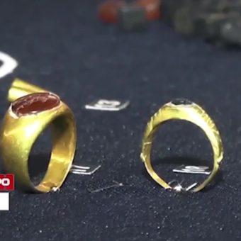 Pierścienie scytyjskiej księżniczki (fot. tvc.ru and nts-tv.com).