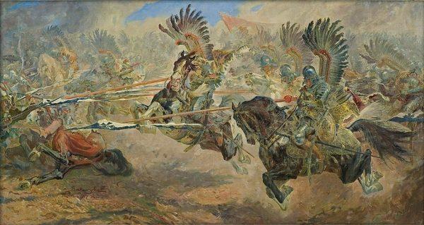 Atak husarii budził popłoch wśród wrogów.