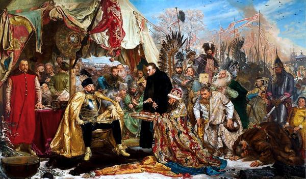 Stefan Batory pod Pskowem.