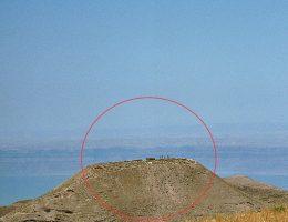 Widok na twierdzę Macheront górującą nad Jordanem (fot. domena publiczna)