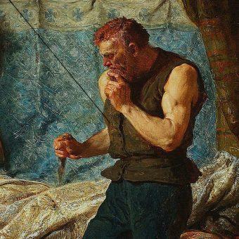 W polskiej historii nie brakowało zamachowców. Na ilustracji skrytobójca, skradający się do łoża Przemysła II.
