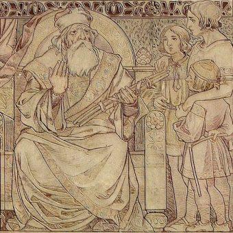 Mojmir II i jego bracia pobierają nauki od ojca, Świętopełka.