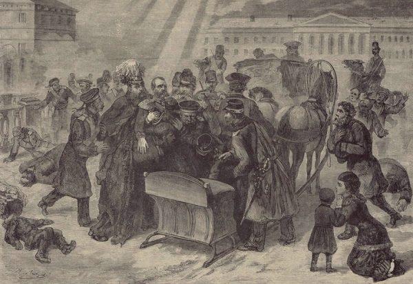Dopiero siódma próba zabicia cara Aleksandra II zakończyła się powodzeniem.