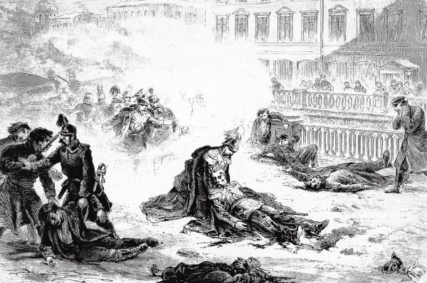 Śmiertelnie ranny Aleksander II.