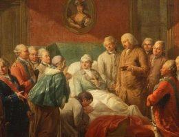 Wizerunek rannego polskiego króla budził poruszenie w całej Europie, a Stanisław August skrzętnie to wykorzystywał.