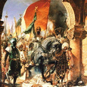 Mehmed II Zdobywca wkracza do Konstantynopola.