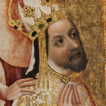 Podobizna Karola IV na obrazie wotywnym arcybiskupa Jana Očka z Vlašimi.